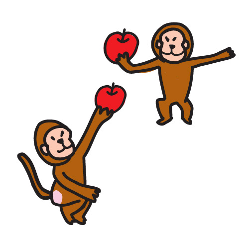 Apples and monkey