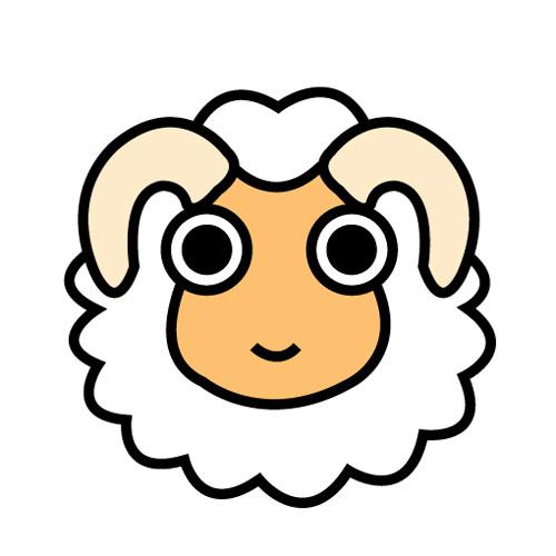 Sheep Character : 年賀状 羊 素材 : 年賀状